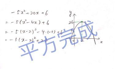 【高校数学】二次関数の平方完成は難しくない【簡単に求めるやり方をわかりやすく解説】